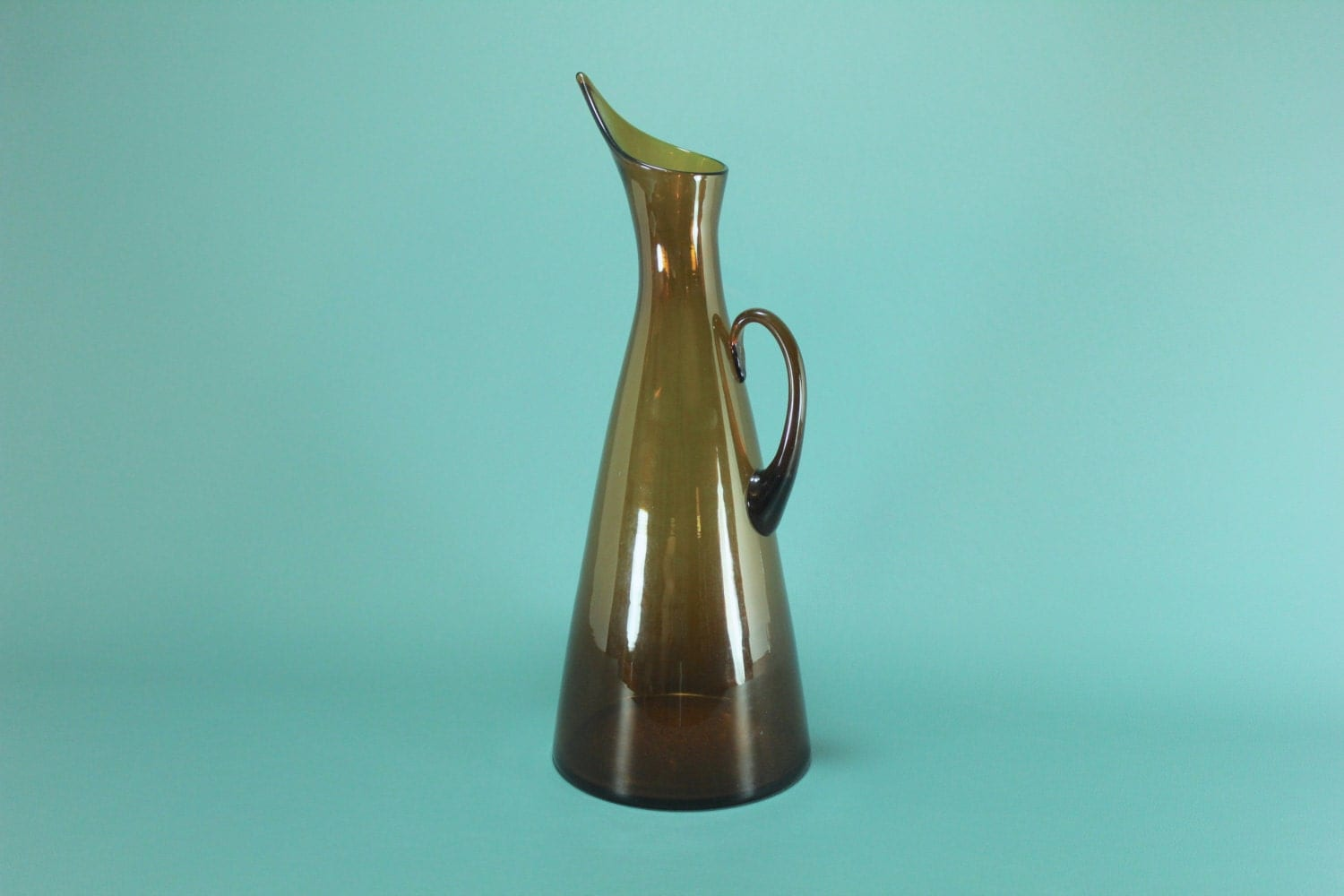 Blenko 976 amberina glass pitcher by winslow anderson for Anderson art glass