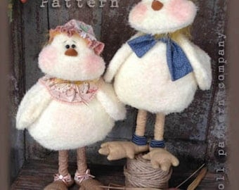 "Twiddle n Tweet: 17"" Baby Chick Dolls Pattern by Sparkles N Spirit"