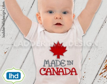 Made in Canada Maple Leaf Applique -- Canadian Embroidery Design -- Canada Maple Leaf Embroidery Applique ID010
