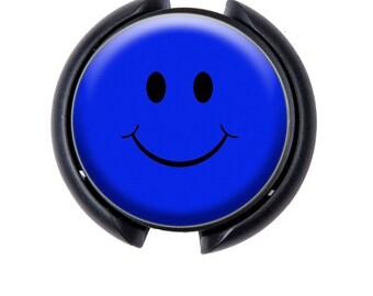Happy Face Stethoscope ID tag, Name Tag, ID Tag-Blue