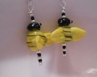 Glass Bumblebee Earrings Item No. 50