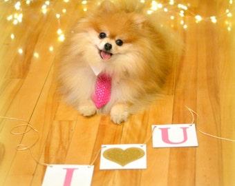 Valentine's Decoration Banner / I Heart You / Valentine Banner / Valentine's Decorations / Love Sign / Be Mine Garland / Gold Glitter Heart