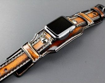 Apple Watch Band, apple watch strap, Brown watch strap,  Apple watch cuff, apple watch strap, apple watch 38 mm, apple watch 42mm