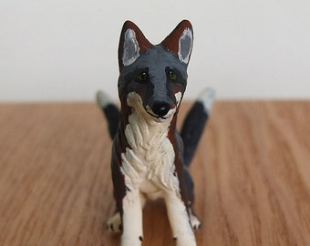 Ready to Ship! Kitsune - OOAK Paper Clay Japanese Fox Creature Mythology Sculpture