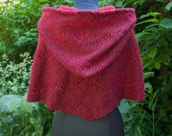 Red Hood Elfin Poncho
