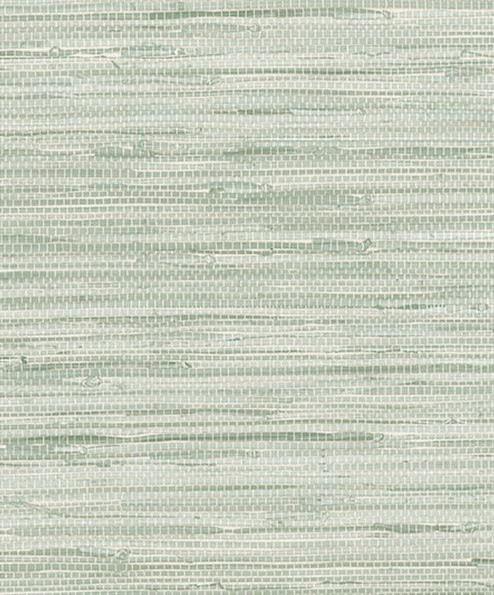 Green Grasscloth Wallpaper: Green Simulated Grasscloth Wallpaper Visual Texture Woven