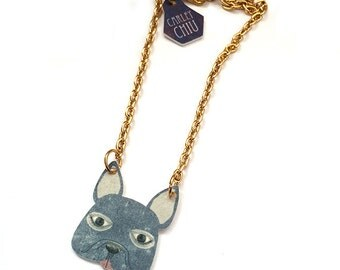 French Bulldog Necklace - Valentines day quirky gift for birthdays and mothers for her teens - kids -children - girlfriends, friends, auntie