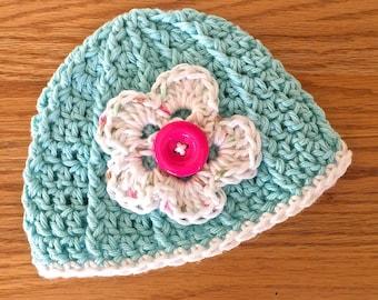 Newborn shabby bonnet