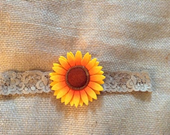 Sunflower Country Couture headband-newborn girls headband,girls headband