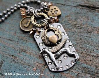 Greyhound Angel Necklace, Greyhound Jewelry, Greyhound Memorial/Keepsake, Whippet Angel Necklace, Whippet Jewelry, Whippet Keepsake