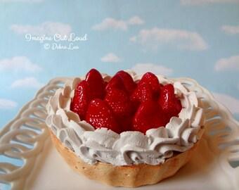 Fake Pie Tart Dessert Strawberry Shortcake Sweet Home Decor Kitchen Photo Prop Display Gift