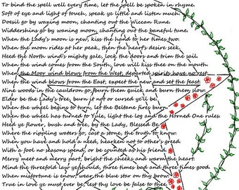 Wiccan Rede with vine pentacle (digital download)