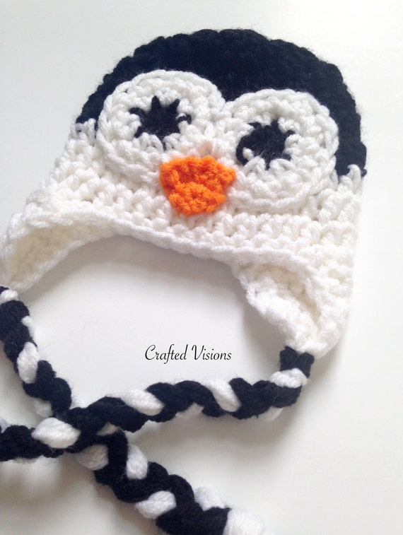 PATTERN Crochet Penguin hat All Sizes Newborn to Adult