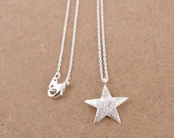 Star Necklace, Star Jewelry, Star Jewellery, Star Pendant, Silver Star Necklace, Gold Star Necklace, Childrens Necklace