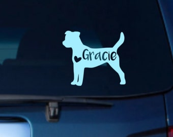 Jack Russell Terrier Car Decal,Jack Russell Car Decal, Jack Russell Vinyl Decal, Jack Russell Car Sticker, Jack Russell Decal