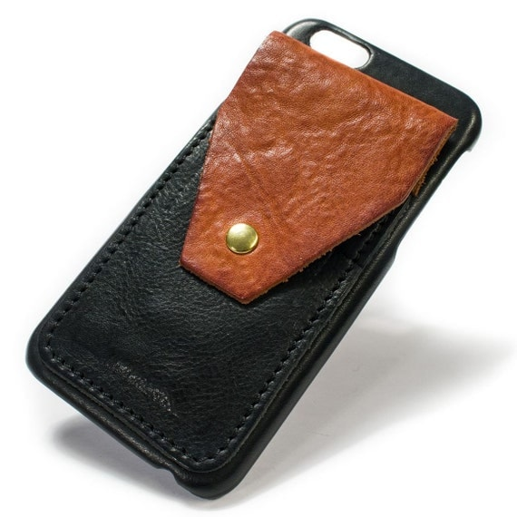 "iPhone 8 and 7 display 4.7"" Italian Leather Case with 3 credit cards vertical SLOTs and a flap with snap choose the color of BODY and ACCENT"