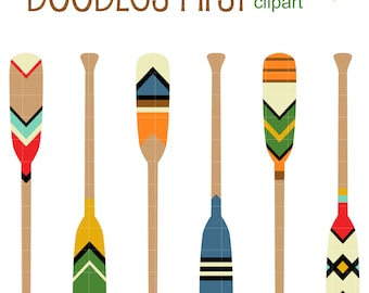 Decorative Paddles Digital Clip Art for Scrapbooking Card Making Cupcake Toppers Paper Crafts