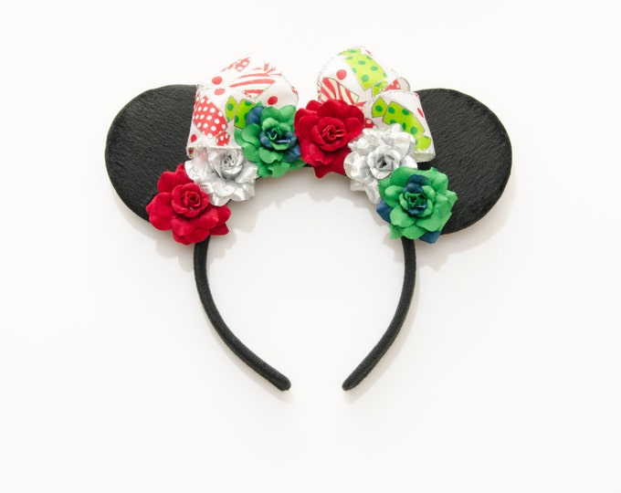 Christmas Mouse Ears Headband