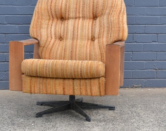 Vintage featherston fler arm chair office swivel chair