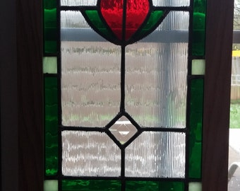 Flower Stained Glass Lead Panel
