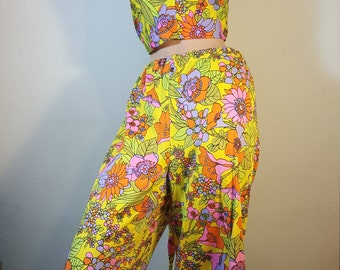FREE  SHIPPING  Mod Psychedelic  Pant Set