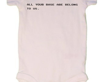 All your base are belong to us, Baby Bodysuit, Classic, Video Game