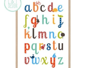 Alphabet Wall Print {Boy OR Girl}