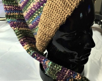Vintage Stocking Hat - Elf Hat - Multicolored