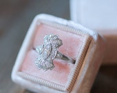 Antique Platinum and Diamond Ring, Vintage One of a Kind Art Deco Engagement Ring, Diamond Engagement Ring, Antique Jewelry, OOAK Ring