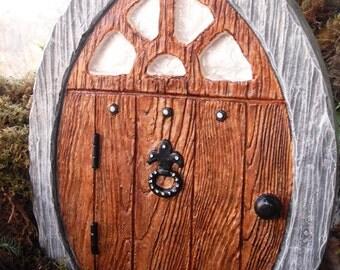 Large Fairy Door, Gnome Door, Elf Door, Pirate Door, Fairy Garden Statue, Medieval Door,Castle Door,Manor Door,Fantasy Decor