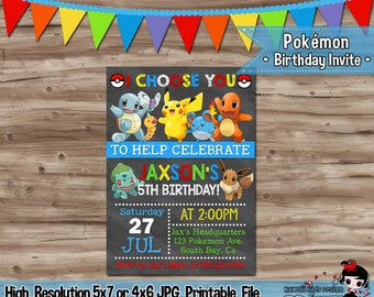 Pokemon Birthday Invitation Orderecigsjuice