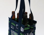 Seattle Seahawks Beer 6-pack holder made from NFL Seattle Seahawks Fabric