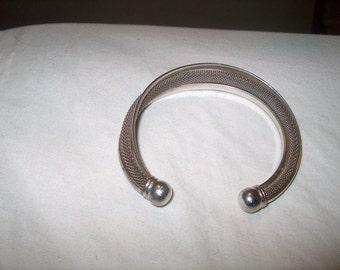 Vintage Silver Cuff Bracelet, Jewelry