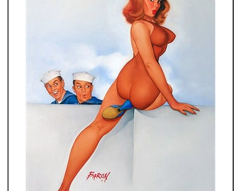 Erotic and saucy postcards mostly vintage french and american x 50 resized, processed to print at 4 x 6 ideal for prints