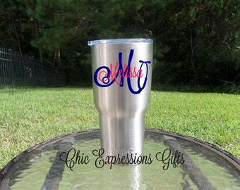 Personalized stethoscope themed RTIC tumbler - available in 2 sizes (Nurses, techs, LPN, Nurse Practitioner, RN, Assistants, Physician Asst