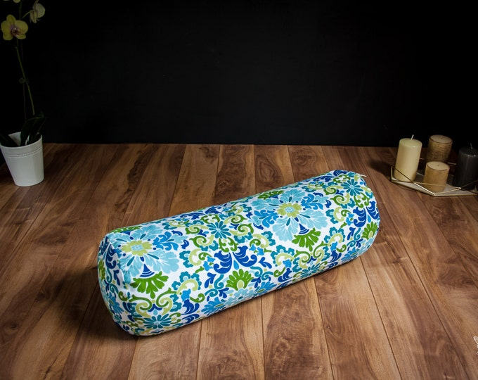 Yoga bolster Summer Mandala buckwheat body pillow restorative practice yin by Creations Mariposa TY-ME