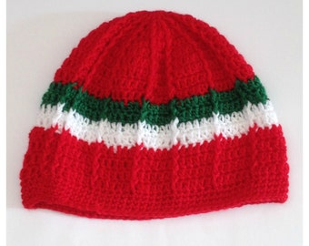 crochet beanie hat for adult man and woman, crochet adult beanie, winter beanie hat, red beanie, mens beanie hat, slouchy hat winter hat