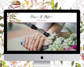 Feminine wordpress theme, website template, premade blog design, floral web design