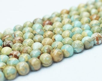 African Opal Beads -- Smooth Loose Round Ball Bead Wholesale 4mm 6mm 8mm 10mm 12mm MHA-127