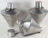 Vintage Tiki Torch Set of 3 Mid Century Aluminum