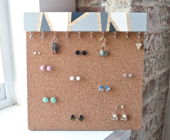 earring studs holder stud earring holder cork by freshlyframed
