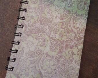 4x6 Green Floral Notebook