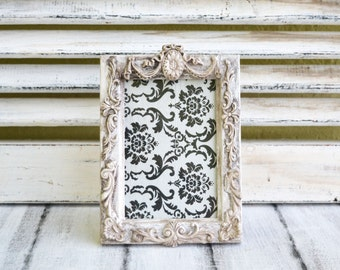 Vintage Picture frame,Distressed photo frame,Wedding picture frame,French style frame,Rustic wedding Frame,Shabby chic wedding frame