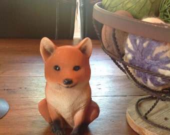 Fall decor.....Fox sculpture....Whimsical and sweet