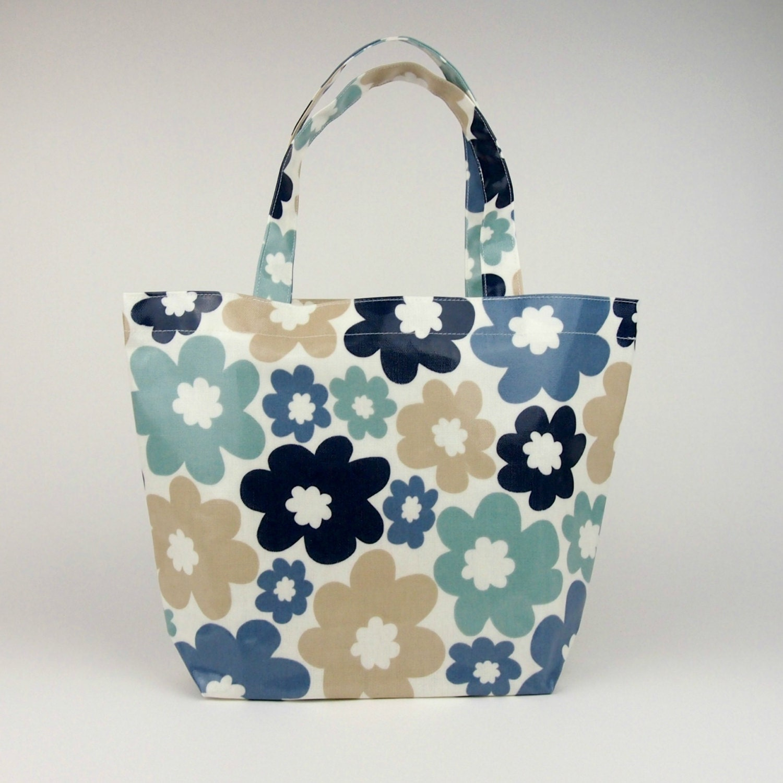 Tote Bag Oilcloth Bag Lunch Bag Floral Bag Oilcloth Tote