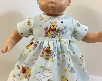 "15 inch 'WINNIE the POOH' Dress, 15"" AG American Doll Bitty Baby/Twin, 15"" Baby Doll Clothes, Piglet! Tiger! Eeyore! Disney's Pooh Bear!"