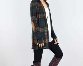 hound multi color plaid fall cardigan S to XL