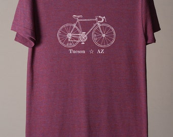 Tucson bike tee, Tucson t-shirt, Tucson tshirt, Tucson tee, cycling Arizona t-shirt