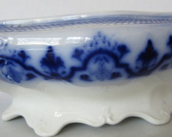 Flow Blue Serving Bowl - Flow Blue - Antique Blue - Flow Blue Bowl -