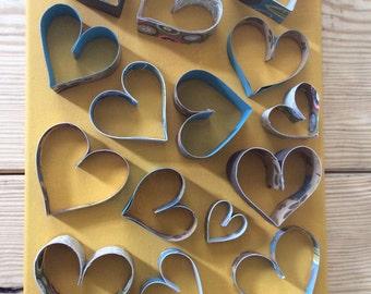 Goldenrod 3D Hearts Wall Art